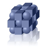 Figura geométrica abstrata com reflexão Ilustração do Vetor