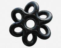 Figura geométrica negra Imágenes de archivo libres de regalías
