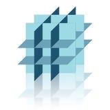 Figura geometic abstracta con la reflexión Foto de archivo libre de regalías