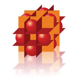 Figura geometic astratta isolata su bianco Immagine Stock