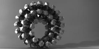 Figura geometrica immagine di 3d Fotografie Stock Libere da Diritti