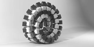 Figura geometrica immagine di 3d Fotografie Stock