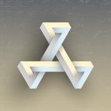 Figura geometrica impossibile irreale, elemento di vettore Fotografia Stock