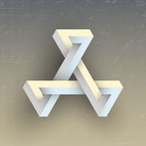 Figura geométrica impossível irreal, elemento do vetor Foto de Stock