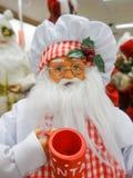 Figura giocattolo del Babbo Natale pronto per le feste Immagine Stock Libera da Diritti