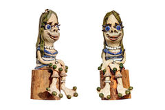 Figura gnomo do jardim da mulher Imagens de Stock