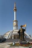 Figura histórica Turkmenistán del monumento. Imagen de archivo