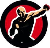 Figura hombre de la lucha del boxeo. icono del deporte Fotografía de archivo
