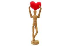 Figura humana com coração Fotografia de Stock Royalty Free