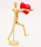 Figura humana con el corazón Imagen de archivo libre de regalías