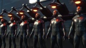 Figura humanoid clonando ilustração royalty free