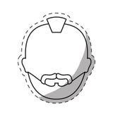 figura icono criminal de la cara del hombre stock de ilustración