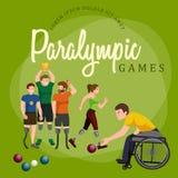 Figura iconos del palillo de los juegos de Paralympic del deporte de la desventaja de la neutralización del pictograma Fotografía de archivo