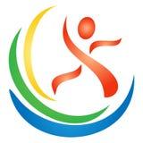 Figura insignia de la aptitud Fotos de archivo