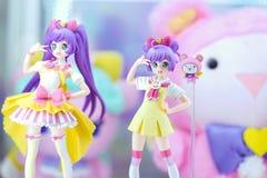 Figura japonesa linda del juguete del modelo del carácter de Pripara foto de archivo