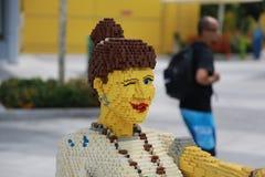 Figura juguete de Lego de la diversión del entretenimiento Imagen de archivo libre de regalías