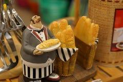 Figura juguete del panadero imagen de archivo libre de regalías