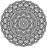Figura mandala para colorir Fotos de Stock Royalty Free