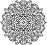 Figura mandala para colorir Foto de Stock Royalty Free