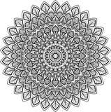 Figura mandala para colorir Imagens de Stock Royalty Free