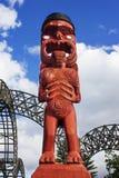 Figura maori di arte Fotografie Stock