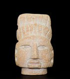 Figura masc del guerrero del maya Fotografía de archivo libre de regalías