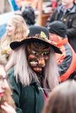 Figura mascherata di carnevale immagini stock