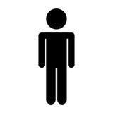 Figura maschio icona della siluetta illustrazione di stock