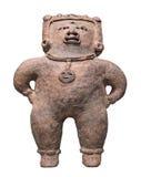 Figura maya antigua aislada. foto de archivo
