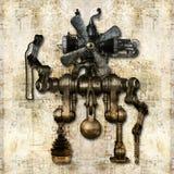 Figura meccanica antica Immagini Stock Libere da Diritti