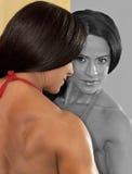 Figura modelo na cor & preto e branco Imagem de Stock Royalty Free