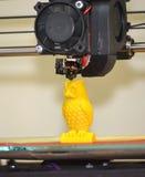 Figura moderna primo piano di stampa della stampante 3D Immagine Stock