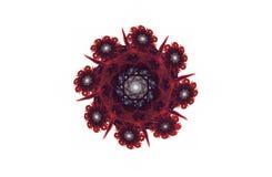 Figura nera rossa di frattale aggressivo astratto Fotografia Stock
