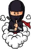 Figura ninja del pellame Fotografie Stock