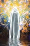Figura no casaco branco ilustração do vetor