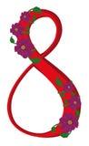 Figura otto ha decorato il kosmeya del fiore Immagine Stock