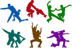 Figura pares da patinagem Imagens de Stock