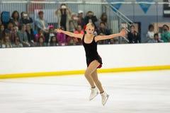 Figura patinador Gracie Gold en la acción Foto de archivo