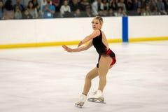 Figura patinador Gracie Gold en la acción Fotografía de archivo