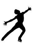 Figura patinadora - blanco y negro imagen de archivo