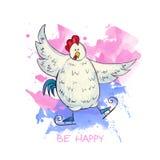 Figura patines del gallo Imagen de archivo libre de regalías