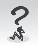 Figura de la pregunta Fotos de archivo libres de regalías