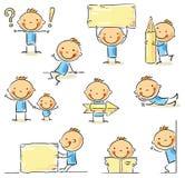 Figura personaggio dei cartoni animati del bastone illustrazione di stock