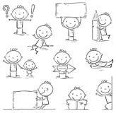 Figura personaje de dibujos animados del palillo Foto de archivo libre de regalías