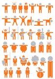 Figura pictogramas Foto de archivo libre de regalías