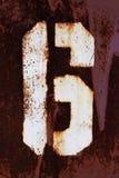 Figura 6 pittura di lerciume su metallo Fotografie Stock