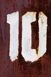 Figura 10 pittura di lerciume su metallo Fotografie Stock