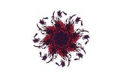 Figura preta vermelha do fractal agressivo abstrato Imagens de Stock Royalty Free
