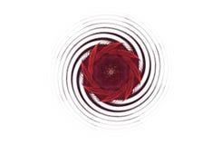 Figura preta vermelha do fractal agressivo abstrato Fotos de Stock