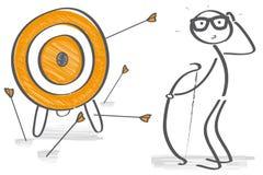 Figura prova del bastone per colpire un obiettivo illustrazione vettoriale